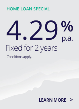 TSB 2 year home loan special 4.29%